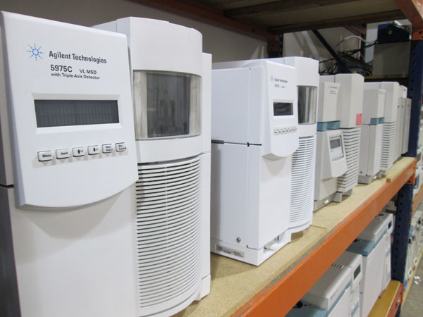 Refurbished Agilent GC and GCMS inventory warehouse