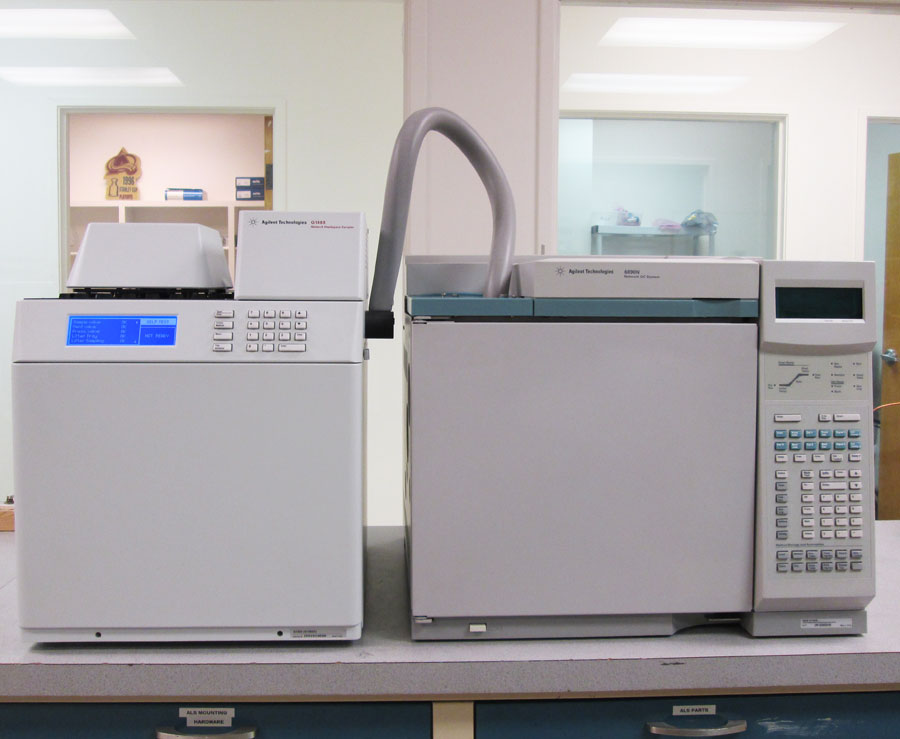 Refurbished Gas Chromatograph for testing residual solvents in cannabis